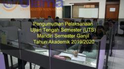 Pengumuman Pelaksanaan Ujian Tengah Semester (UTS) Mandiri Semester Ganjil Tahun Akademik 2019/2020
