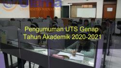 Pengumuman UTS Genap Tahun Akademik 2020-2021