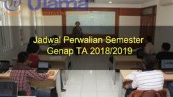 Jadwal Perwalian Semester Genap TA 2018-2019