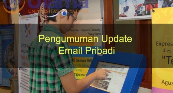 Pengumuman Update Email Pribadi